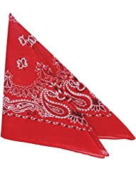 Rhode Island Novelty Cowboy Bandanas (One Dozen), Red
