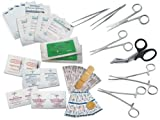 Survival Surgical & Suture Emergency First Aid Kit 33PC w/Carry Case