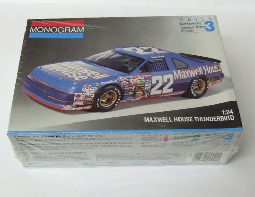 #2942 Monogram Sterling Marlin #22 Maxwell House Thunderbird 1/24 Scale Plastic Model Kit