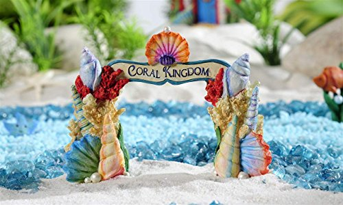 Giftcraft Beach Fairy Garden Seashell Archway Figurine From Under The Sea  Collection