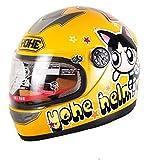 YH-959S1 子供用ヘルメット バイクヘルメットYouth helmet キッズヘルメット ジェット 自転車ヘルメット  ハーフ ヘルメット子供 可愛い L:53-54センチ yellow