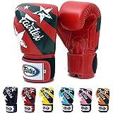 Fairtex Muay Thai Boxing Gloves BGV1 Color Black Blue White Red Classic Brown Emerald Falcon Pink Yellow Orange...