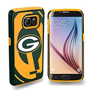 NFL Football Samsung Galaxy 6 Dual Hybrid 2 Piece Phone Cover Case - Pick Team (Green Bay Packers)