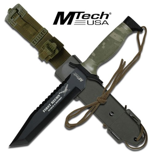 """Mt-676Tc First Recon Mtech Tactical 7Agyk549Mm Knife With Custom Sheath - Lwywxjd8D 12"""" Overall Ayeuiu56 Hlbv23Rt First U4Iqrlkz3 Recon Mtech Tanto Blade Wrzjogv Tactical Knife With Custom Sheath. Featuring Camo Finish Handle. 12"""" Overall In Length, Inclu"""