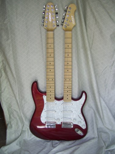 Double Neck Electric Guitar, 6 And 12 String
