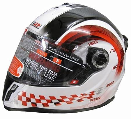 LS2 fF392.1 cHRONO casque de vélo pour enfant blanc/rouge taille m (49/50 cm)