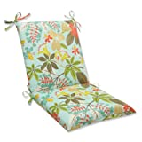 Pillow Perfect Squared Outdoor Fancy a Floral Caribbean Corners Chair Cushion