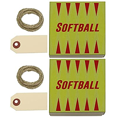 Softball Let's Play Kraft Gift Boxes Set of 2