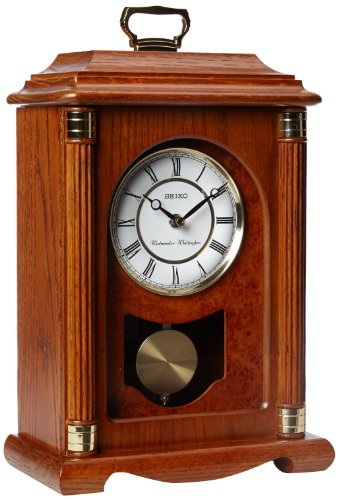 Seiko Mantel Chime With Pendulum Carriage Clock Dark Brown
