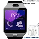#10: ApeCases® Apple iPhone 3G Compatible Ceritfied SW Bluetooth Smart Watch Phone With Camera and Sim Card Support With Apps like Facebook and WhatsApp Touch Screen Multilanguage Android/IOS Mobile Phone Wrist Watch Phone with activity trackers and fitness band(Assorted Color) with FREE GIFT
