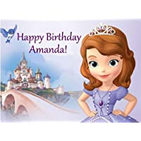 Sofia the First Edible Image Cake Topper Birthday Cake PERSONALIZED FREE