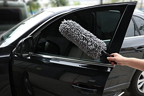 lashabell car wash brush with long handle exterior or interior use microfiber multipurpose. Black Bedroom Furniture Sets. Home Design Ideas