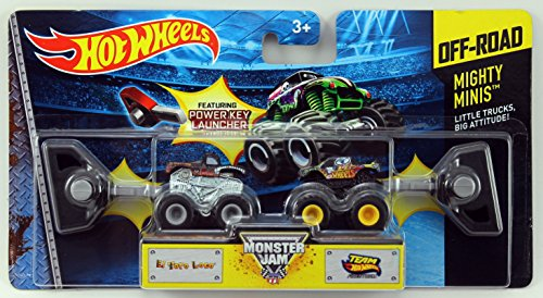 Hot Wheels Monster Jam Mighty Minis Off-Road - El Toro Loco & Team Hot Wheels Firestorm