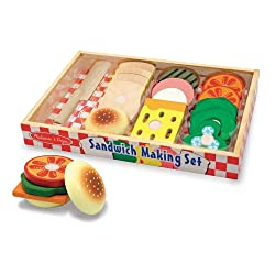 [Best price] Puzzles - Melissa & Doug Wooden Sandwich-Making Set - toys-games