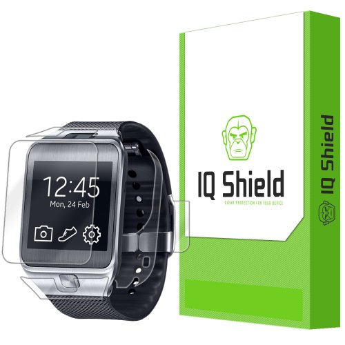 Iq Shield Liquidskin - Samsung Galaxy Gear 2 Screen Protector + Full Body (Front And Back) - High Definition (Hd) Ultra Clear Watch Smart Film - Premium Protective Screen Guard - Extremely Smooth / Self-Healing / Bubble-Free Shield - Kit Comes With Retail front-423290