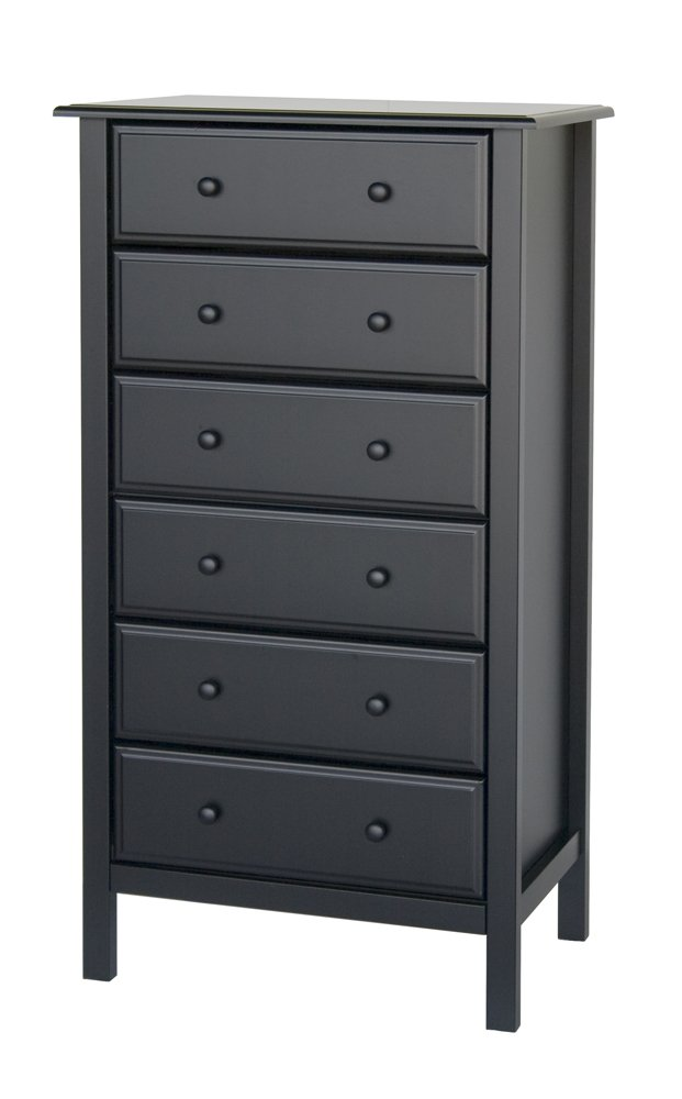 6-Drawer Dresser, Black Finish