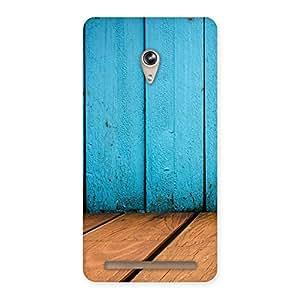 Cyan Wood Back Case Cover for Zenfone 6