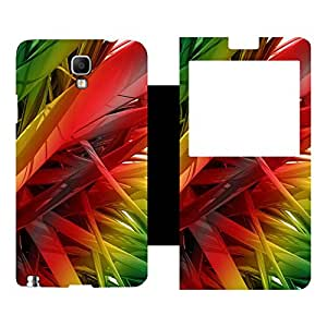 Skintice Designer Flip Cover with hi-res printed Vinyl sticker wrap-around for Samsung Galaxy Note 3 Neo N7505