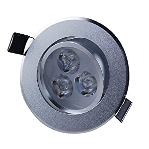 Jambo 4 pieces LED Cool White Ceiling light Aluminum shell Satin Silver Surface 3W 100-240V Aluminum shell 180-210 LM by Jambo light
