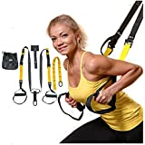 Suspension Straps Kit By Zen Junkie. Fitness System For Body Weight Exercise . Compact Design , Includes Door Anchor, Straps, Heavy Duty Buckles and Carry Bag. At Home and On The Go Fitness System.