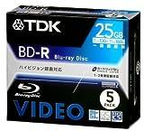 TDK ベアタイプ 録画用ブルーレイディスク 25GB 1回録画用(追記型) 5枚パック BDV-R25X5S