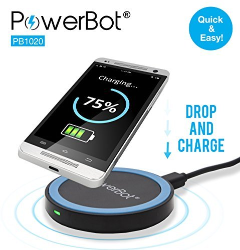 qi wireless charger qi enabled charging pad for compatible phones only powerbot pb1020 smart. Black Bedroom Furniture Sets. Home Design Ideas