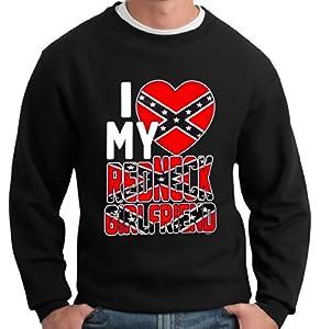 BeWild Brand - I Love My Redneck Girlfriend Crewneck Sweatshirt #B480-PS