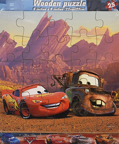 Disney Cars 25 Piece Wooden Jigsaw Puzzle - 1