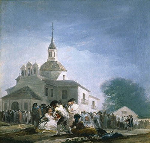 Oil Painting 'Goya Y Lucientes Francisco De Saint Isidore's Day At The Saint's Hermitage 1787 88 ' Printing On Perfect Effect Canvas , 8 X 8 Inch / 20 X 21 Cm ,the Best Gym Artwork And Home Decor And Gifts Is This Best Price Art Decorative Prints On Canvas