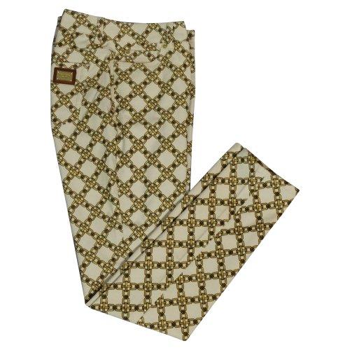 MICHAEL Michael KorsMichael Kors Women's Chain Link Corduroy Pants (Cream, Size 8)