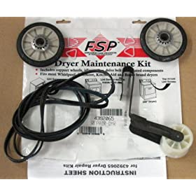 4392065 DRYER BELT MAINTENANCE KIT REPAIR PART FOR WHIRLPOOL, AMANA, MAYTAG, KENMORE AND MORE