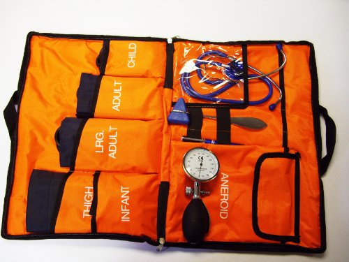 Aneroid Sphygmomanometer Kit 5 Cuffs included Paramedic Bag (O) Blood Pressure Monitor