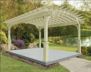 8' x 10' Treated Pine Arched Garden Pergola
