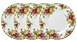 Royal Doulton-Royal Albert Old Country Roses Bread and Butter Plates, Set of 4