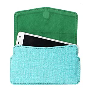 DooDa PU Leather Pouch Case Cover With Card / ID Slots For Micromax Canvas Nitro 310