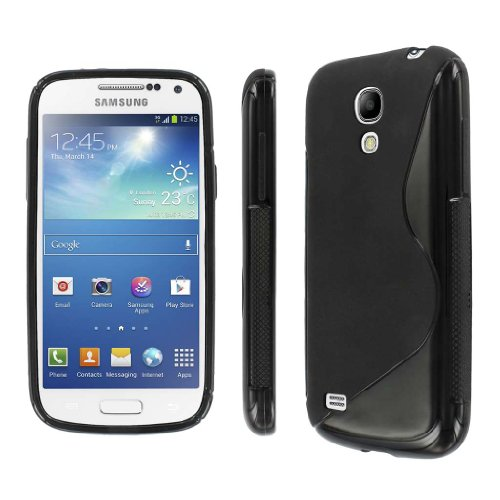 Mpero Collection Flexible S-Shape Poly Skin Black Case For Samsung Galaxy S4 Mini