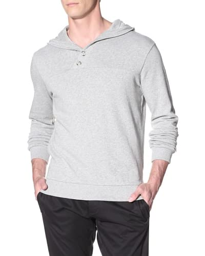 adidas SLVR Men's French Terry Hooded Pullover  [Medium Grey Heather]