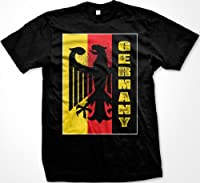 Germany Eagle Silhouette Mens T-shirt, Deutschland German Pride Faded Flag Eagle Design Men's Tee Shirt