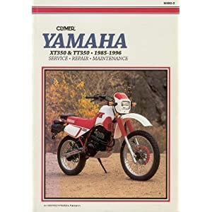 yamaha xt/tt 350, 1985-1996: service, repair, maintenance book download