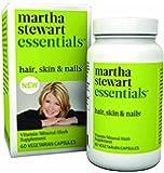 Martha Stewart Essentials Hair, Skin and Nails Supplement, 60 Vegetarian Capsules
