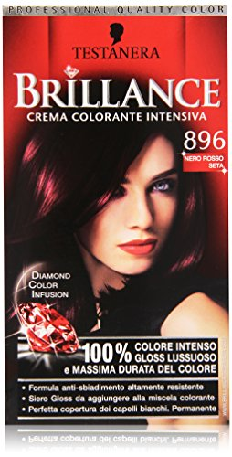 Testanera - Brillance, Crema Colorante Intensiva, 896 Nero Rosso Seta