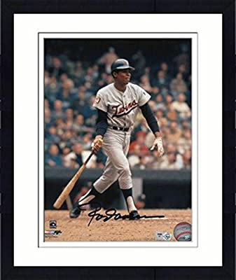 "Framed Rod Carew Minnesota Twins Autographed 8"" x 10"" Batting Photograph - Fanatics Authentic Certified"