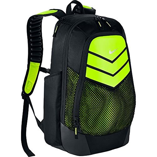 Nike Vapor Power Training Backpack (Black/Volt/Metal/Slv, One Size) (Nike Shoe Storage Box compare prices)