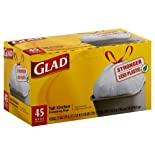 Glad Tall Drawstring Kitchen Bags, 13 Gallon 45 ct.