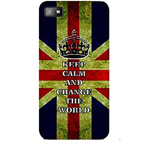 Skin4gadgets Keep Calm and CHANGE THE WORLD - Colour - UK Flag Phone Skin for BLACKBERRY Z10