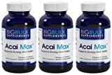Acai Max The Ultimate Antioxidant Big Bulk Suplements Acai Berry Extract 900mg 540 Capsules 3 Bottles