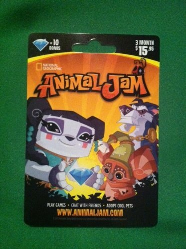 National Geographic Animal Jam Online Game Card - 10 Diamonds - 3 Month Membership - Kangaroo, Arctic Wolf, Snow Leopard or Lion (Target Gift Card $10 compare prices)