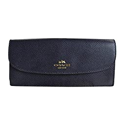 Coach Crossgrain Leather Soft Wallet 52689 Midnight