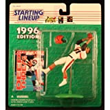CARL PICKENS / CINCINNATI BENGALS 1996 NFL Starting Lineup Action Figure & Exclusive NFL Collector Trading Card ~ Starting Line Up