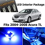 Classy Autos Acura TL BLUE Interior LED Package (7 Pieces)